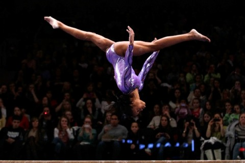 Gabrielle Douglas competing at AT&T American Cup Mar. 3, 2012