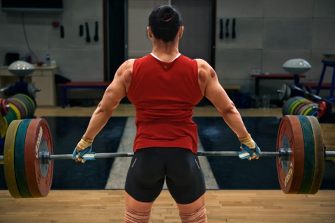 Training of Chinese national women's weightlifting team