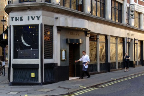 The Ivy restaurant in London's West End.