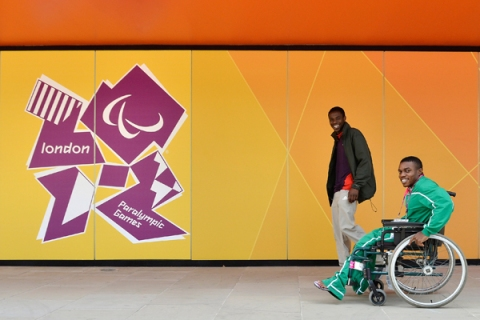 Athletes Arrive At the Athletes Village Ahead of The London 2012 Paralympic Games