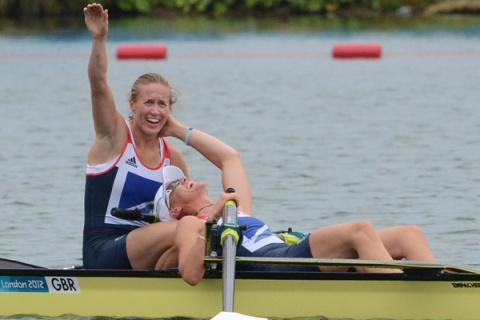 Great Britain's Helen Glover and Heather Stanning