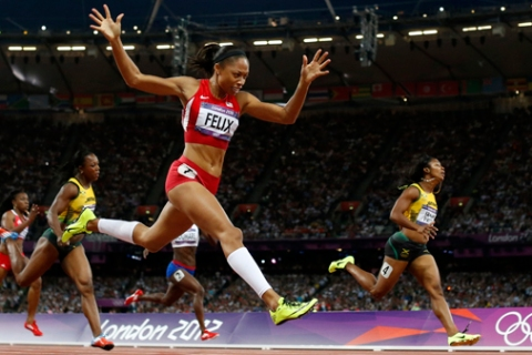 London Olympics Athletics Women Allyson Felix