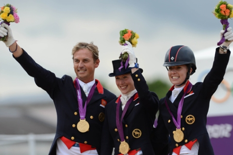 BRITAIN LONDON EQUESTRIAN DRESSAGE TEAM