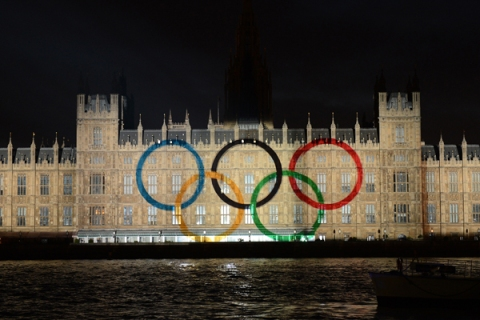 An image of the Olympic rings is display