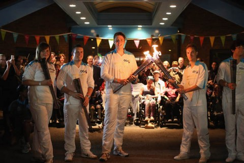 The Paralympic Torch Is Lit At Stoke Mandeville Spinal Unit The Birthplace Of The Games